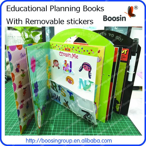 Educational book with TPE sticker